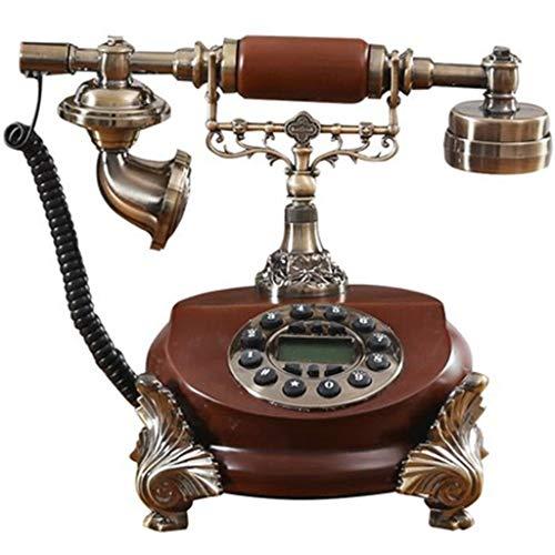 DHSAFG houten retro telefoon de mode 60 s antieke telefoon bedrade schaal retro woonaccessoires decoratie