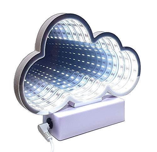 Lampe Stimmungslicht Licht Wolke Tunnel Spiegel Tunnellicht Lichttunnel 32 LED`s USB Dekoration Party Geschenk 3D Effekt
