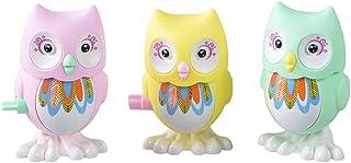 TOYANDONA 3pcs Wind- up Owl Toys Plastic Bird Clockwork Game Toys Colorful Animal Bathtub Playthings for Baby Kids Childre...