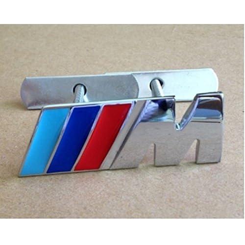 Insignia BMW serie M Sport Power Tech Frontal Metal Cromado Rejilla Parrilla Emblema