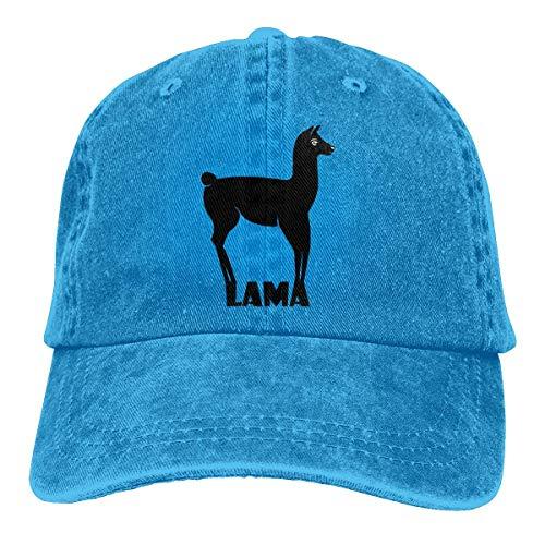 LLeaf Berretto da Baseball Classico, Berretto da Baseball Regolabile da Uomo da Donna Lama Silhouette Visor Hat Blue