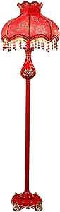 Lámpara de pie de Resina de Color Rojo Vintage, Sala de Estar, Estudio de Boda, lámpara de pie
