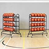 FORZA Portable Sports Ball Trolley | 20 or 40 Ball Storage Trolley | Multi-Sport Ball Rack and Cart (20 Ball Capacity)