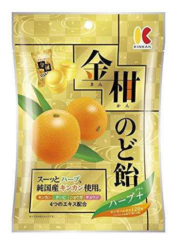 キンカン キンカンの金柑のど飴ハーブプラス 80g ×6個