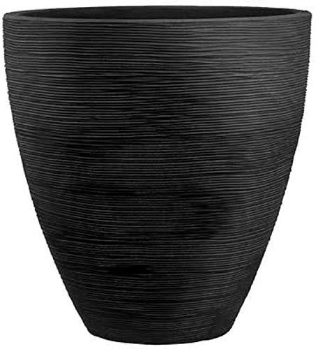 Dehner Pflanzvase Vino, Ø 40 cm, Höhe 42 cm, Kunststoff, anthrazit