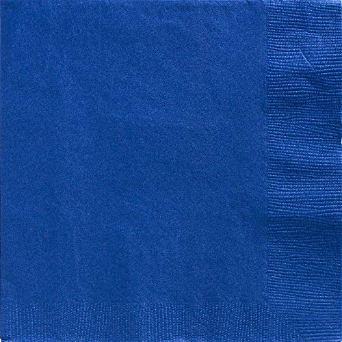 Amscan 62215.105 Keep Dinner pkins, Bright Royal Blue