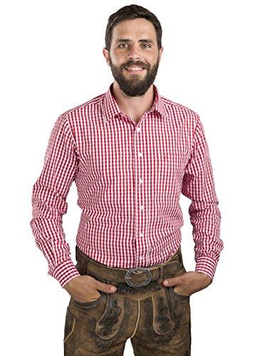 Camicia da uomo a quadrettiper costume tipico bavarese