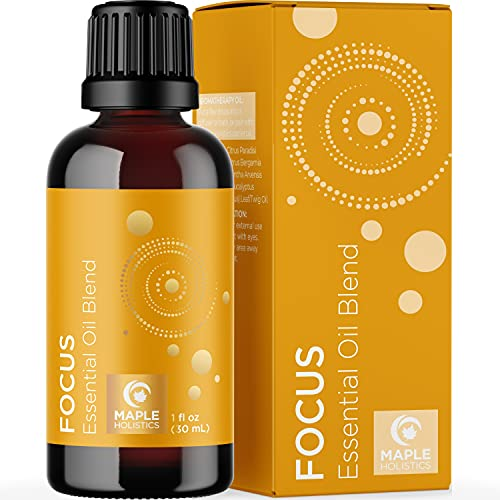 Aromatherapy Essential Oils for Focus Blend - Diffuser...