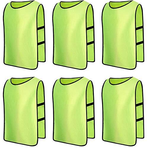 Senston 6X Scrimmage Weste/Markierungshemden/Trainingsleibchen/Trainings-Leibchen/Basketball/Football,6 Farben 3 Größen,für Teamsportbedarf - Fußballtraining