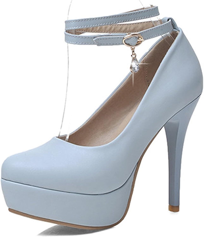 Colnsky Women's Sexy Cross Ankle Strap Stiletto High Heels Club shoes Round Toe Platform Pumps