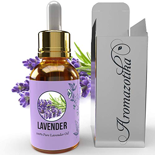 Aromazotika Lavender Essential Oil - 100% Pure, All Natural & Undiluted- Therapeutic Grade (Lavender, 15ml) Ideal for Skin & Hair (लैवेंडर) Lavender Essential Oil for Hair Growth, Face, Sleep and Skin