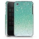 Coque Compatible avec Apple iPhone 3Gs Étui Housse Paillettes Vert Bling-Bling