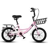 Axdwfd Infantiles Bicicletas Bicicletas para niños, Bicicleta para niños 16/18/20 Pulgadas, Ciclismo para niños y niñas, Adecuado para niños de 6 a 16 años de Edad, Azul, Verde y Rosa