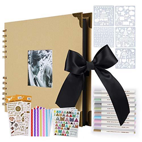 ASYOUWISH DIY Fotoalbum Kreatives Handgeklebtes Paar Fotoalbum, A4 Fotoalbum, Sammelalbum Oder Aufzeichnung Des Gedenkalbumgeschenks,Gelb