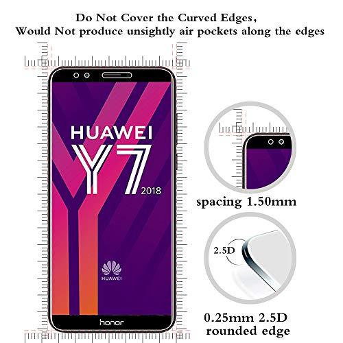 ANEWSIR Schutzfolie für Huawei Y7 2018/Y7 Prime 2018/Huawei Honor 7C, 9H Härte, Anti-Kratzen, Anti-Bläschen, Displayschutzfolie Folie Screen Protector [2 Stück] - 3