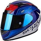 Scorpion - Casco de moto EXO-710 AIR Mugello Blu-Blanco XXL