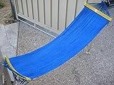 Indoor/Outdoor Small Hammock Swing Bed 48' Long Blue Color
