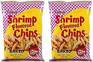 Calbee Shrimp Flavored Backed Chips 4 oz (Pack of 2)