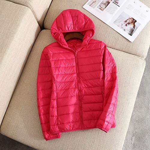 MILASIA Daunenjacke Light Short Damen Kapuzenmantel Winter Warme Jacke Daunenjacke Long Sleeves Feather Fine Quilted Legere Daunenjacke Ultra Warm Cinché Parka Sport