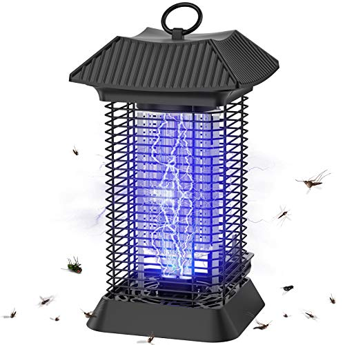 Bug Zapper Outdoor Indoor, Electric Waterproof Mosquito Zapper Killer [Double Clean] 4200V Mosquito Lamp, 20W Replaceable Bulb Insect Fly Trap, Plug in Bug Zappers for Patio, Home, Flies, Gnats