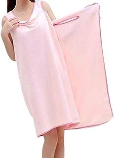 バスタオル 着れるスタイル ずり落ちない バスローブ 大判 ピンク