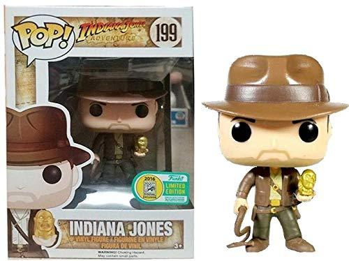 YDDM Funko Pop # 199 Indiana Jones Figuras de acción de Vinilo Colección Brinquedos Juguetes Modelo para Regalo de niños