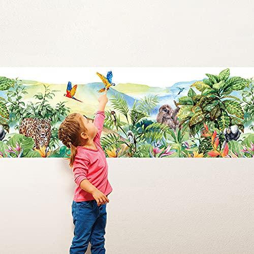 SM0051 Adesivi murali camerette bambini amazzonia - greche, protezione pareti, rivestimento mobili, tavoli e armadi