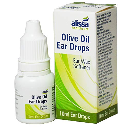 Gotas para limpiar la cera del oído - Remedio natural ecológico - Limpia de forma suave las orejas - Ayuda a eliminar los tapones de cera - Apto para adultos niños - Aceite oliva virgen puro - 10ml