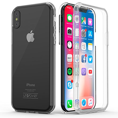 Urcover Touch Case 2.0 kompatibel mit Apple iPhone XS Max Hülle I Original berühmt durch Galileo I Hard-Edition I QI-fähig I Rundum 360° Schutzhülle I Crystal Clear Case Transparent