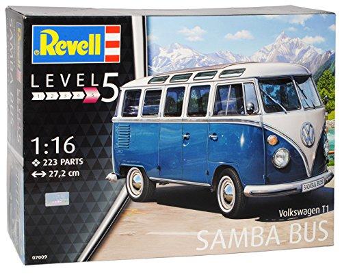 Revell Volkwagen T1 Blau Weiss Samba Bully Bus 1950-1967 07009 Bausatz Kit 1/16 1/18 Modell Auto mit individiuellem Wunschkennzeichen