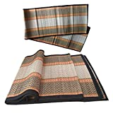Exclusive Design Eco-Friendly Foldable Green Mat (Same as Displayed images), Hand-crafted by traditional artisans of rural West Bengal This Handmade Chatai or organic mat is made with Korai grass sticks and threads make this floor mat more durable, l...