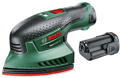 Bosch EasySander 12 - Multilijadora a batería (2 baterías 12 V 2,5 Ah, Power for...
