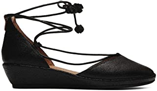 Women's Nerissa Low Wedge with Laceup Pom Pump