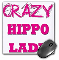 Crazy Hippo Lady–マウスパッド、8× 8インチ( MP _ 175107_ 1)