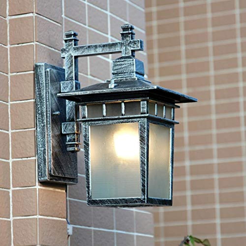 Terrasse Wasserdicht Wand Lampe, Outdoor Villa Terrasse Flur Balkon Terrasse Leuchten Auenleuchten Engineering Wandleuchten Single Head E 27 22  22  29 Cm Mode (Farbe  Gold)