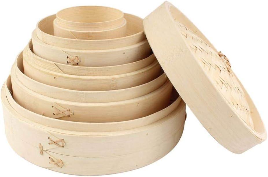 Cuisson En Bambou Vapeur Poisson Riz Légumes Collation Panier Ensemble Cuisine Outils De Cuisson Dumpling Marmite À Vapeur, 24 Cm 26 Cm