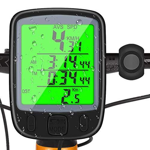 HJTLK Ordenador para Bicicleta, Ordenador para Bicicleta Resistente al Agua MTB inalámbrico...