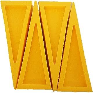 LINE2design Firefighter Door Stopper Safety Combo Wedge Pack Door Stop Loose Sprinkler Stops Safety Wedges Doors Opener (Pack of 4, Yellow)