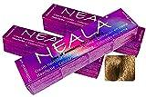 Pack 3 tintes permanentes profesionales para el cabello sin amoniaco y sin PPD ni MEA, 3.4 onzas líquidas - 8.74- RUBIO CLARO AVELLANA - NEALA 3x100ml.
