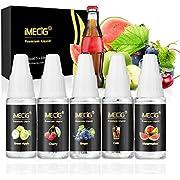 IMECIG E Liquid Premiumset Vape E-LIQUID-BOX, 70VG/30PG E Shisha Liquids Set für E Zigarette/E Shisha, Ohne Nikotin (MEHRWEG-VERPACKUNG)