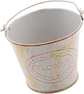 Perfk Large Metal Tinplate Pail Bucket Wedding Party Candy Basket Home Hotel Bar Cafe Decor