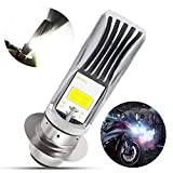 H6M LED Bulb 1800Lumens High Power 2xCOB LEDs 11Watts P15D LED Motorcycle Lamp High Low Beam.Xenon White(1-pack).