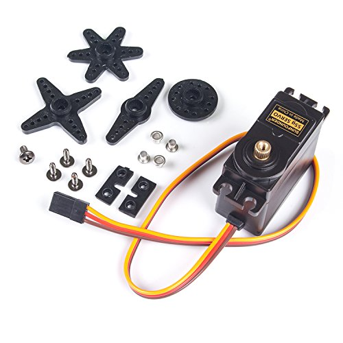 SunFounder Metal Gear Digital RC Servo Moteur High Torque for Helicopter Car Boat Robot Arduino AVR Toys Drone Fix-Wing Airplane