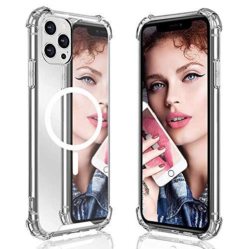 HRXS IPhone12 Apple Mobile Teléfono Móvil Transparente Inalámbrico Magnetización Magsafe Caja de protección de teléfono móvil