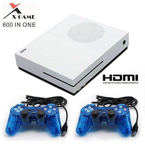 CXYP Consola de Videojuegos Retro,HDMI Video Incorporado 600 Juegos clásicos con 2PCS Joysticks
