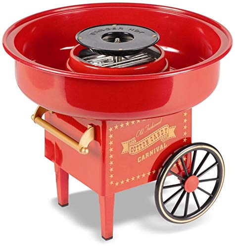 United Entertainment Cotton Candy Maker/Zuckerwattemaschine/Zuckerwatte Maschine - Kunststoff - Rot - ø 30 x 25 cm