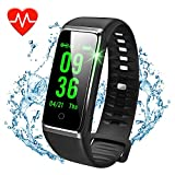 Activity Tracker Watch with Heart Rate Monitor, Waterproof Fitness Watch with Step Counter