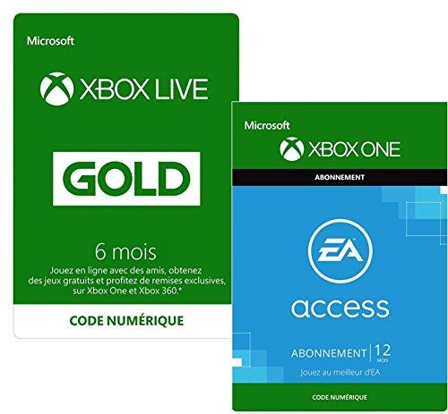 6 Mois Xbox Live Gold + 12 Mois EA Access | Xbox One - Code jeu à télécharger