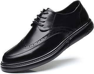 [ランボ] ビジネスシューズ 通気性 黒 24cm 24.5cm 25cm 25.5cm 26cm 26.5cm 27cm フォーマル 外羽根 ウィングチップ モンクストラップ 優雅 卒業式 結婚式 背が高くなる 靴 柔らかい 軽量