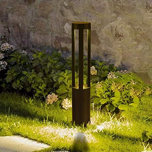 Zaun Stigma Rasenpfosten Pollerlampe Minimalistische runde Außenvilla Korridor Innenhof Säule Licht Europäischer moderner Garten im Freien Wasserdichte LED-Säulenleuchten für Rasenlandschaft